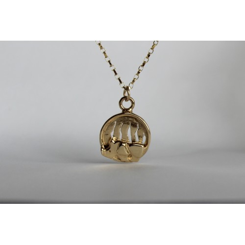 Recycled 9ct pendant- Rhino
