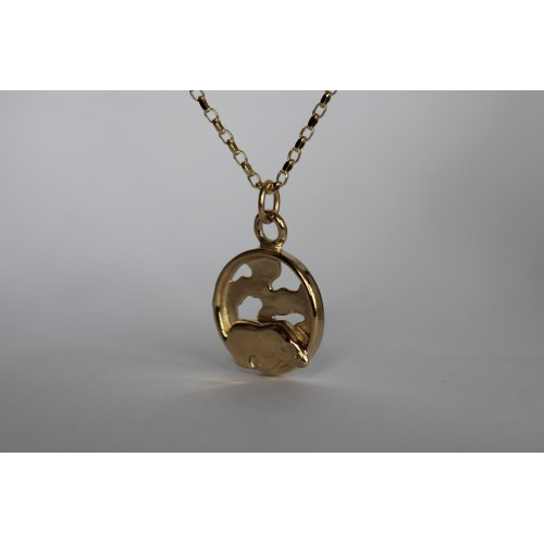 Recycled 9ct pendant- Polar bear