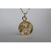Recycled 9ct pendant- The Great Barrier Reef