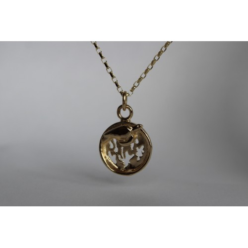 Recycled 9ct pendant- Turtle