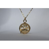 Recycled 9ct gold pendant - Hedgehog