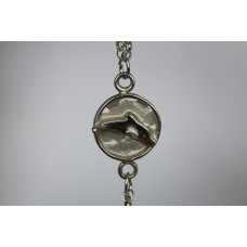 Recycled sterling silver Bracelet- Dolphin