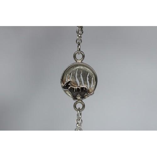 Recycled sterling silver Bracelet- Tiger