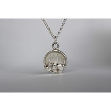 Recycled sterling silver pendant - Rhino