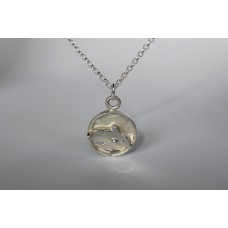 Recycled sterling silver pendant - Dolphin
