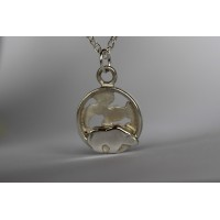Recycled sterling silver pendant - Polar Bear