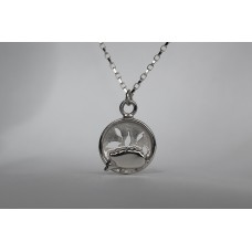 Recycled sterling silver necklace - Hedgehog